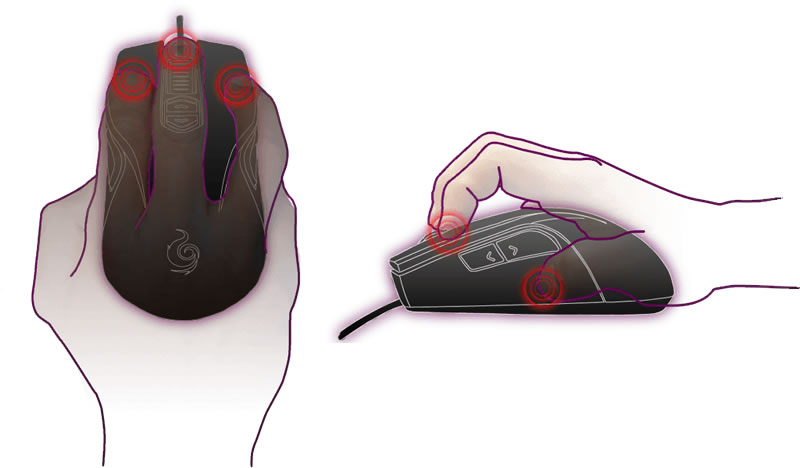 Agarrar mouse gamer