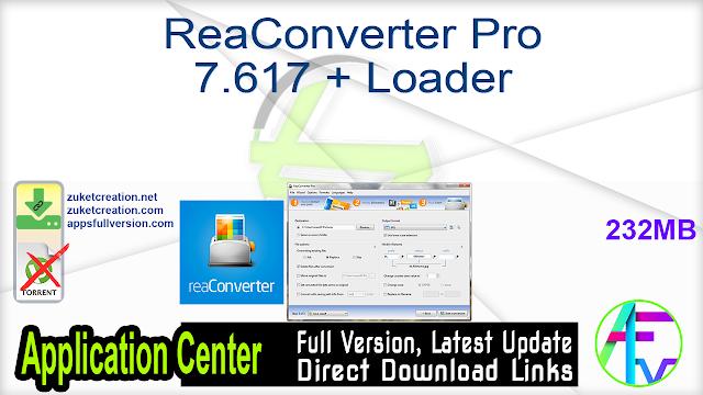 ReaConverter Pro 7.617 + Loader