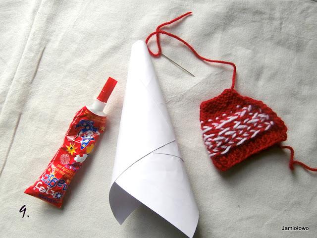 podstawa krasnala wykonana z papieru