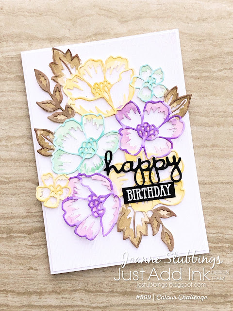 Jo's Stamping Spot - Just Add Ink Challenge #509 using Blossoms in Bloom bundle by Stampin' Up!