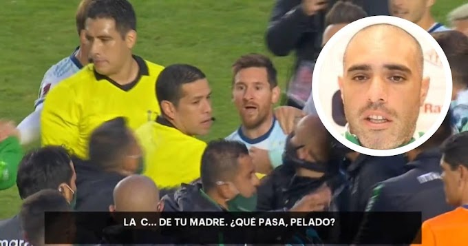 Bolivia physio finally react to the heated brawl with Barcelona Captain Messi with Argentina