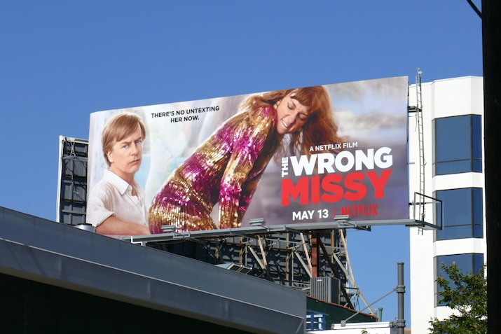 Wrong Missy Netflix movie billboard