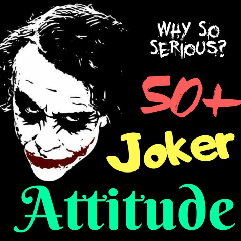 Joker Attitude Quotes | joker quotes about pain | joker quotes in english Whatsapp Dp
