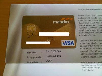 Kartu Kredit Bank Mandiri Gold Card