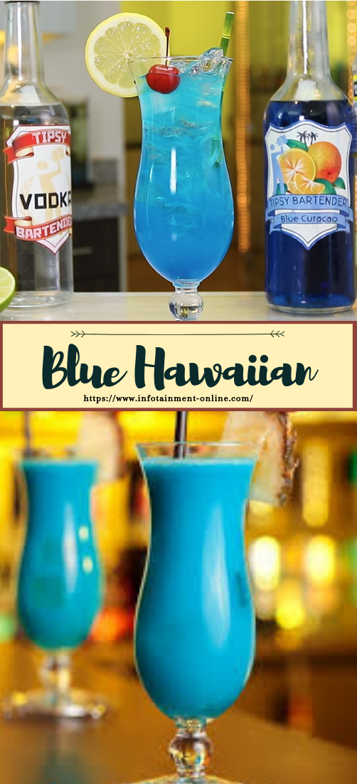 Blue Hawaiian  #healthydrink #easyrecipe #cocktail #smoothie