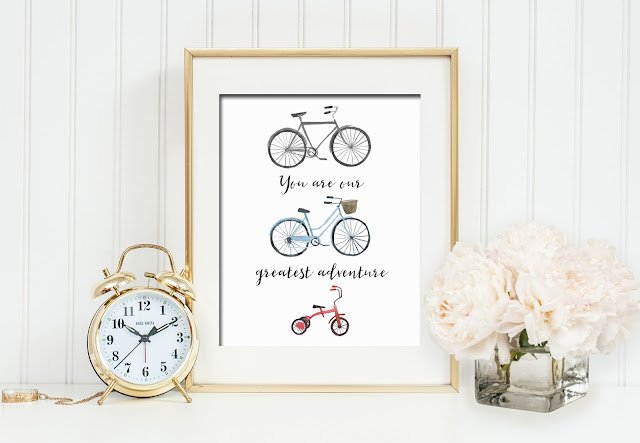 You Are Our Greatest Adventure - Bicycle Family by Sweet Little Ones Shop on Etsy
