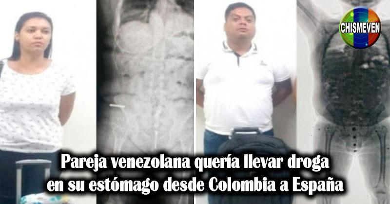 Pareja venezolana quería llevar droga en su estómago desde Colombia a España