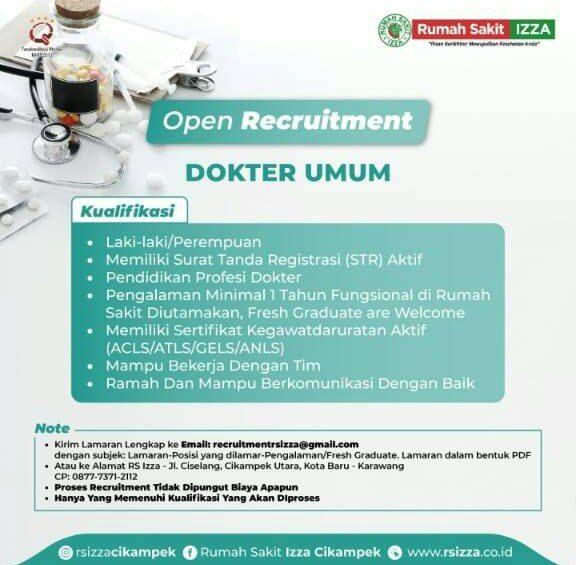 Loker Dokter RS Izza Cikampek, Karawang, Jawa Barat