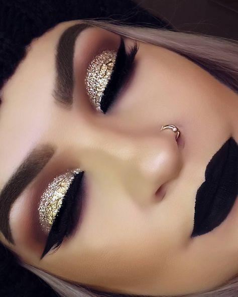 grunge gold makeup ideas