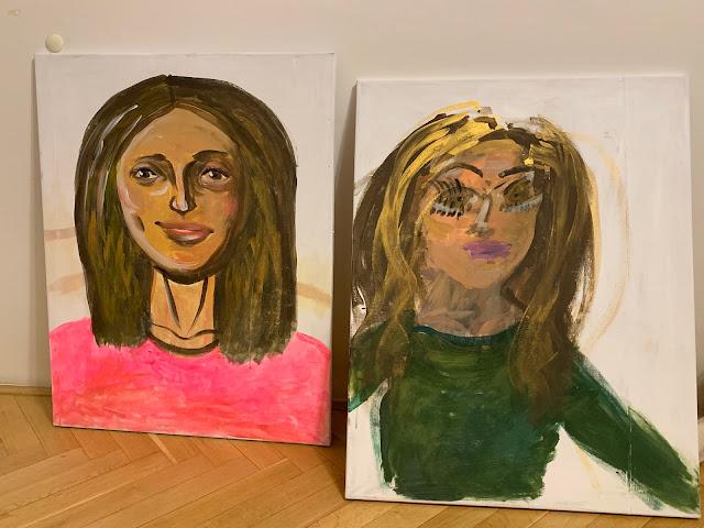 Portréty Lindy a Martiny