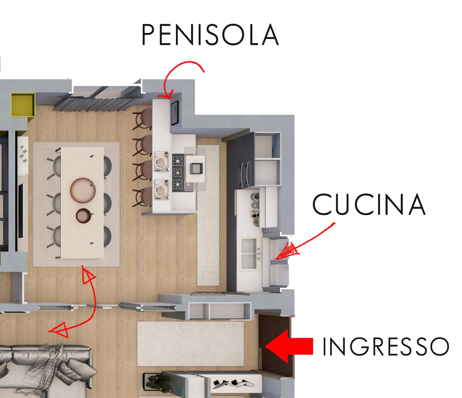 Beautiful Progetto Cucina Con Isola Photos - Embercreative.us ...