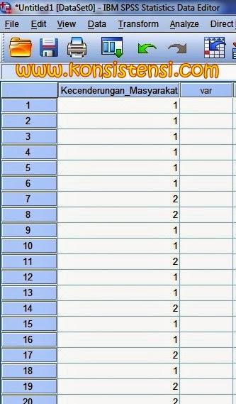 Cara melakukan Uji Statistik Chi Square SPSS