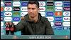 Cristiano Ronaldo removes Coca-Cola bottles from press conference