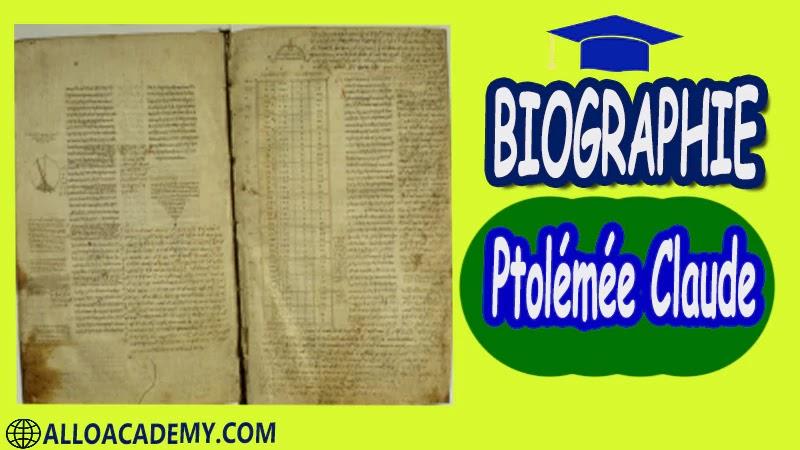 Ptolémée Claude (85 - 165 après J.C.) - autobiographie Astronome grec d'Alexandrie biographie Ptolémée Claude biographie autobiographie autobiographie livre écrire une autobiographie biographie a lire autobiographiques livre autobiographique gratuit