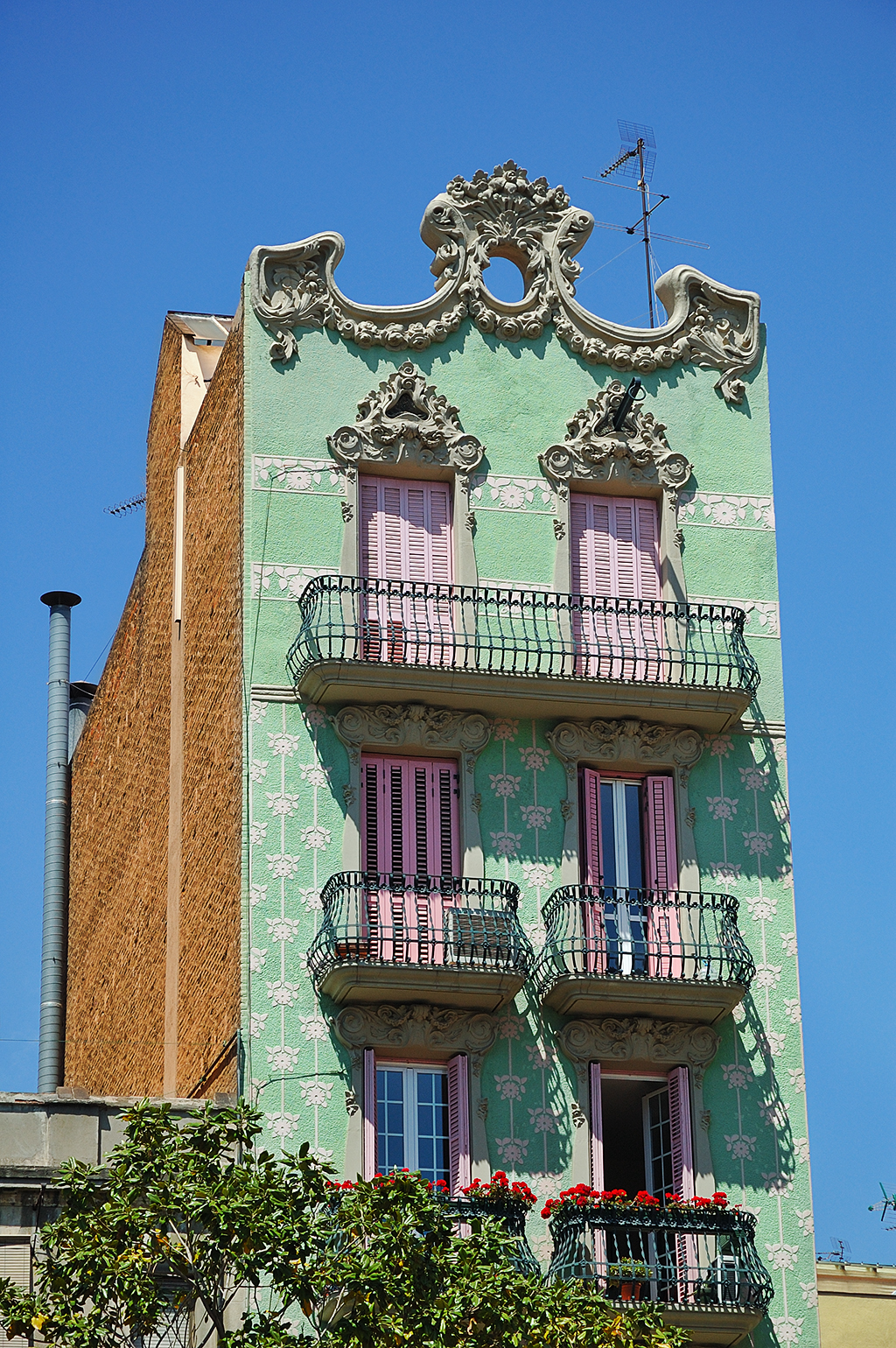 Modernist Building at Plaza del Sol, Gracia