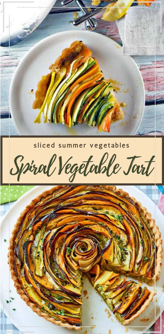 Spiral Vegetable Tart #vegan #vegetarian #soup #breakfast #lunch