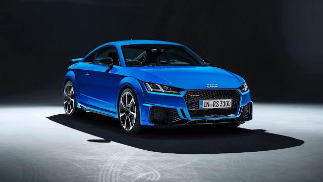 Audi Blue Color Sports Car 2020 Wallpaper