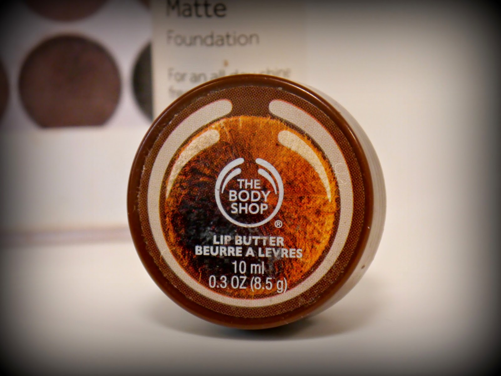 photo of body shop coconut lip butter