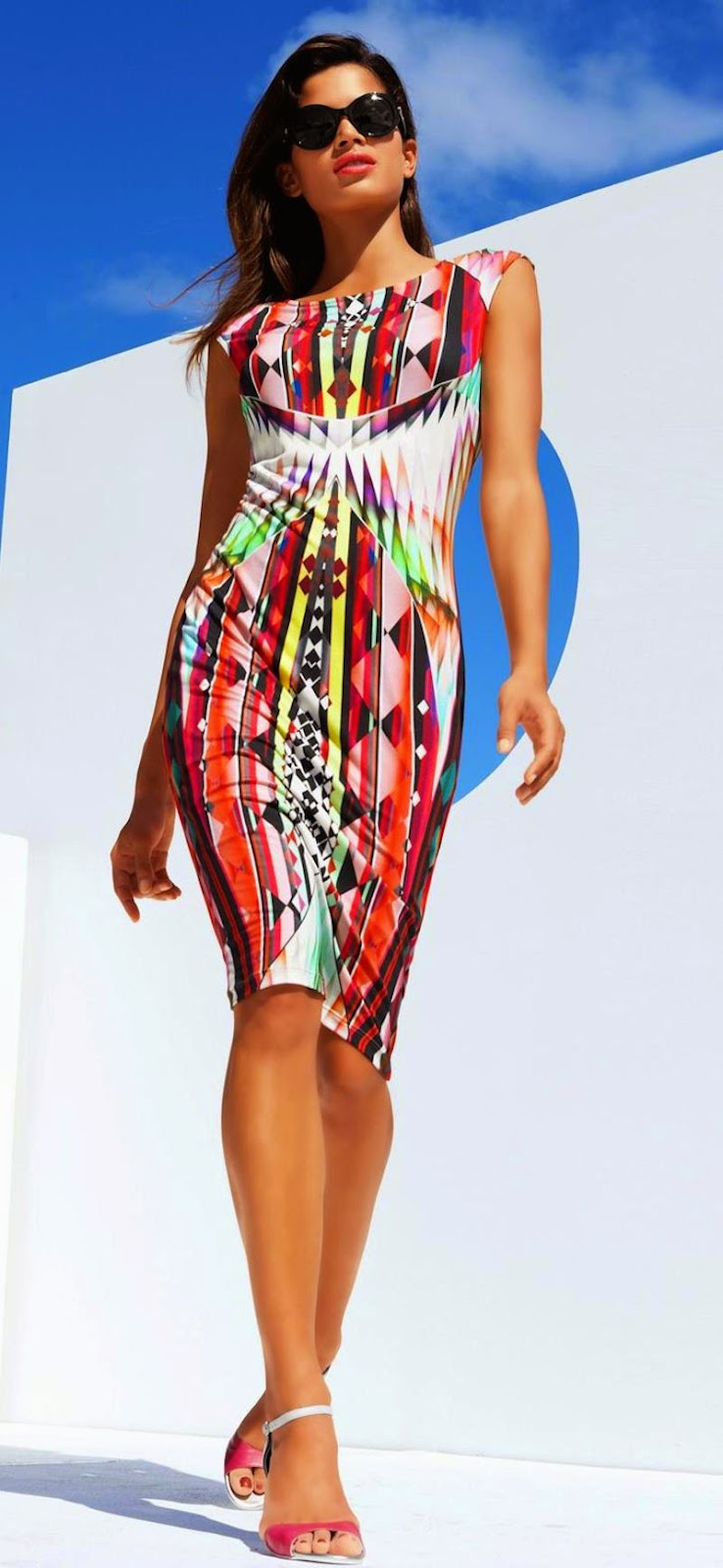 MADELEINE DRESS IN MULTI COLOR