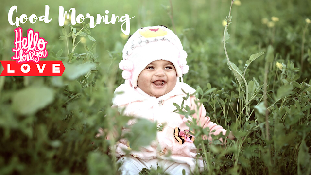 Good Morning Images with Happy baby