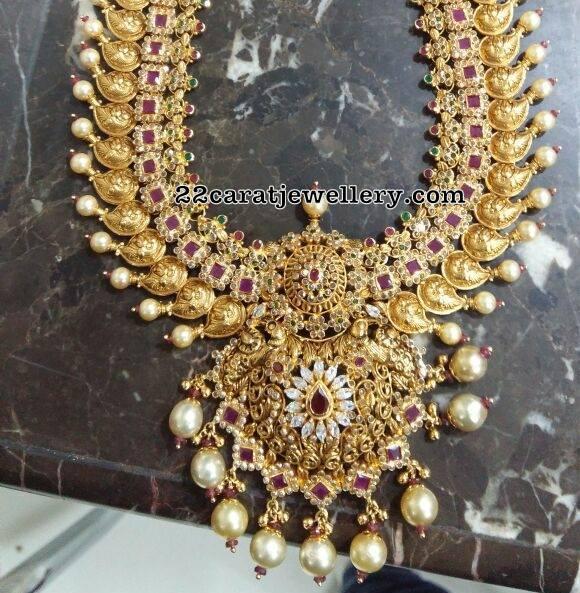 Uncut Ruby Mango Necklace