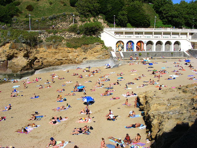 Plage du Port Vieux, Biarritz, Pyrenees-Atlantiques.  France. Photographed by Susan Walter. Tour the Loire Valley with a classic car and a private guide.