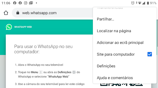 Como usar o WhatsApp num tablet ou PC?