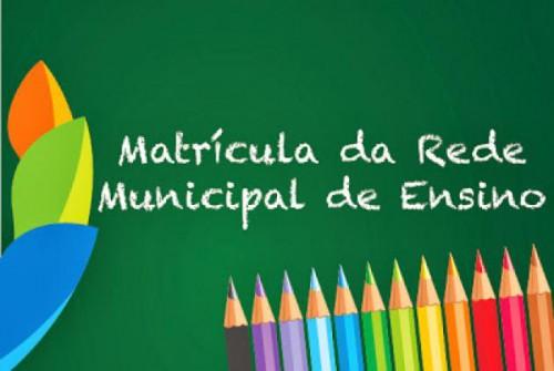 Matrícula para rede municipal: encaminhamento até sexta 11