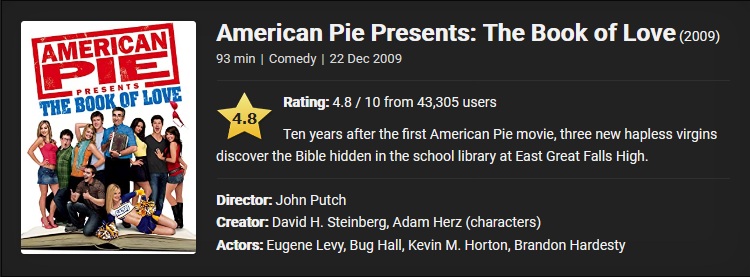 18+ American Pie Presents: The Book of Love (2009) Download Full Movie {Hindi-English} 480p [400MB]    720p [850MB]    1080p [3GB]