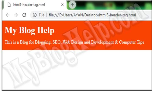 Example-of-header-tag-html5