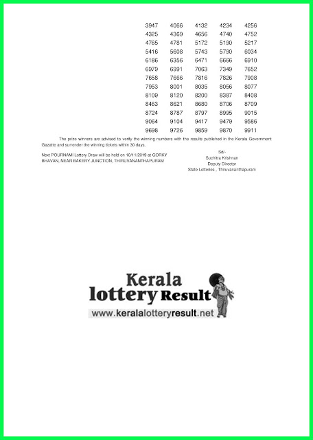 Kerala Lottery Result 03-11-2019 Pournami RN-416 Lottery Result keralalotteryresult.net --