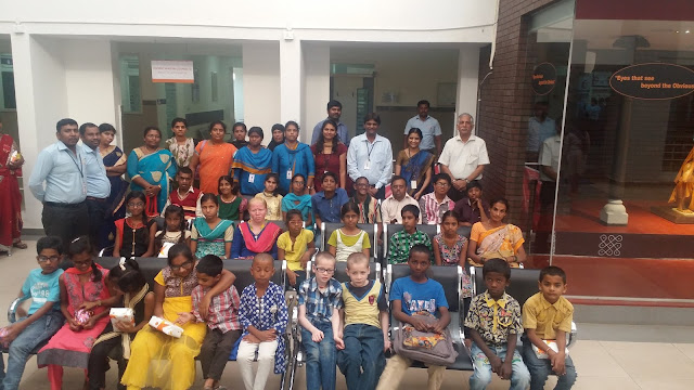 """Sankara Eye Hospital had organized for free screening camp for children on the account of Children's Day"""