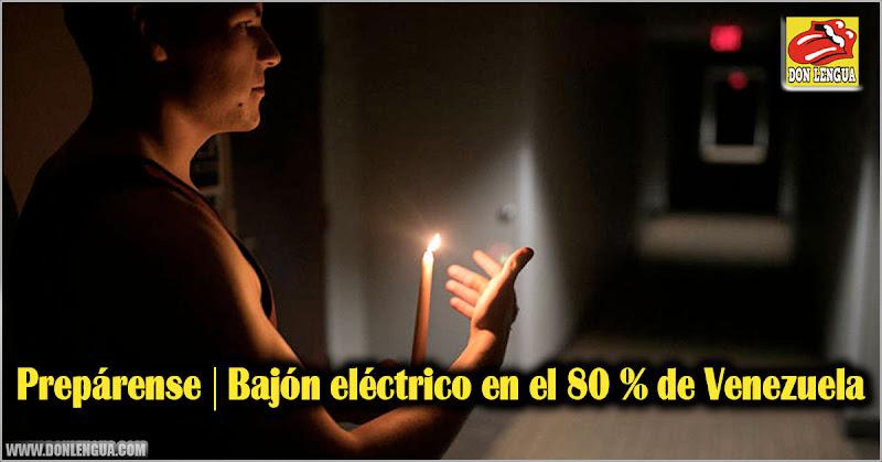 Prepárense | Bajón eléctrico en el 80 % de Venezuela