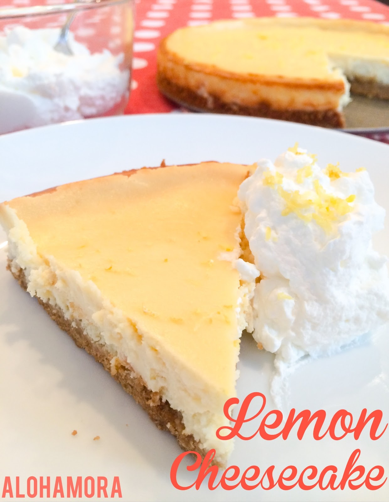 Lemon Cheesecake.  Simple, delicious, and not as hard as you think.   Just the right amount of Lemon pucker with the creamy richness from the cheesecake.  Yummy! Alohamora Open a Book http://alohamoraopenabook.blogspot.com/