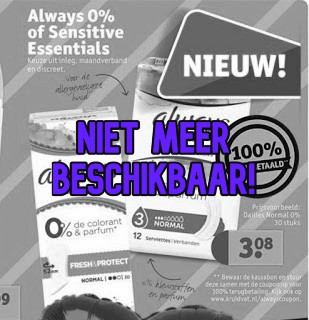 Gratis Always 0% of Sensitive Essentials Maandverband Bij Kruidvat
