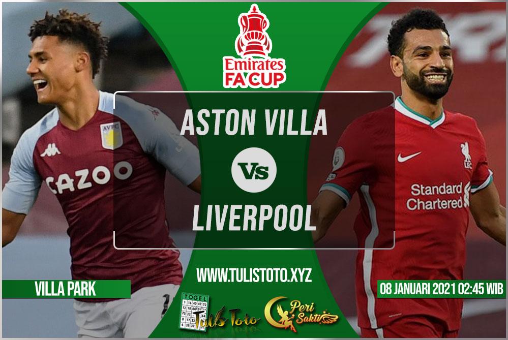 Prediksi Aston Villa vs Liverpool 09 Januari 2021