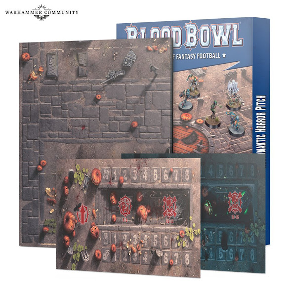 Blood Bowl necromantic Horrors campo