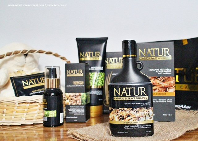 rangkaian perawatan rambut tradisional dari natur