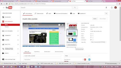 ubah thumbnail video youtube