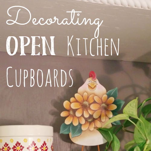 Decorating Open Kitchen Cupboards