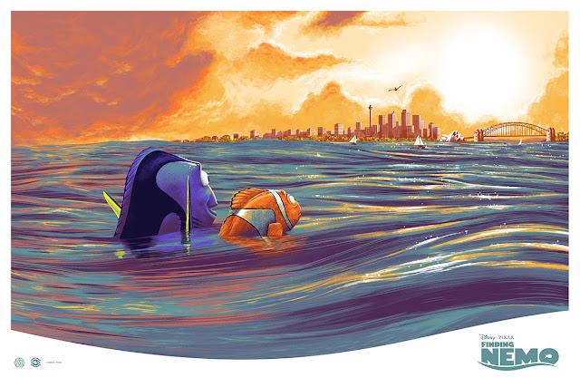 Cesar Moreno Finding Nemo Mondo Pixar Poster