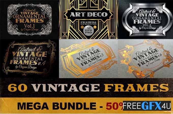 60 Vintage Frame Templates Pack