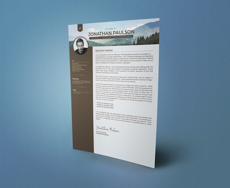 Template Resume CV 2018 - Free Professional Modern Resume (CV) Cover Letter Design Template