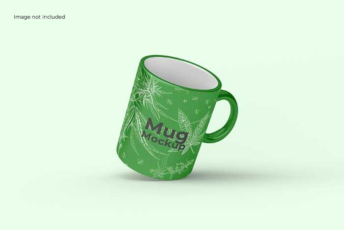 Floating Mug PSD Mockup