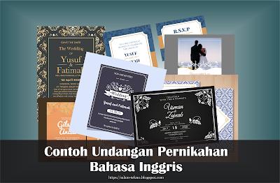 contoh undangan pernikahan dalam bahasa inggris