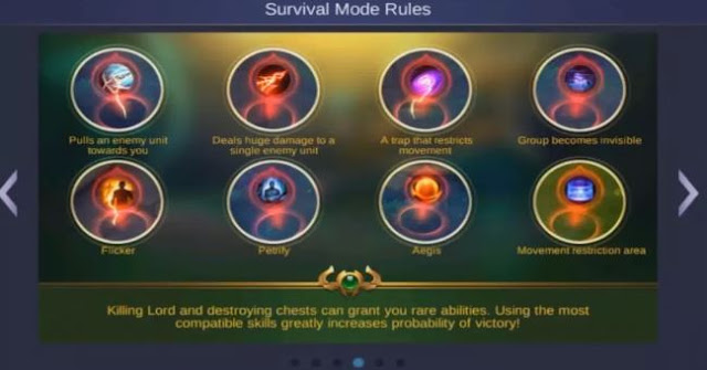 cara bermain mode survival mobile legends