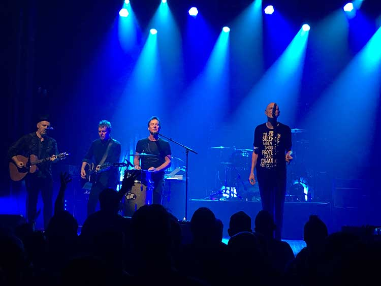 The acoustic set for Midnight Oil playing live in New York City at Webster Hall.