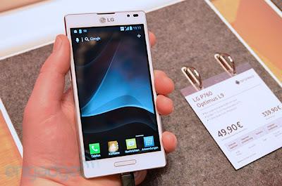 harga LG Optimus L9 indonesia, spesifikasi dan fitur optimus L9, gambar ponbsel LG Androdi terbaru seri optimus L9