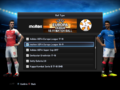PES 2013 Balls Molten UEFA Europa League 2018/2019 by M4rcelo