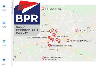 BPR dan BPRS di kota Jogja, kab. Sleman, Bantul, Gunung Kidul